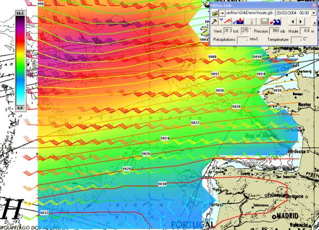 ScanNav Version 4 0 Grib weather forecast module